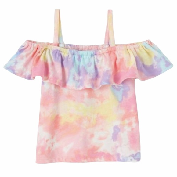 3/$25 The Children's Place Tie Dye Ruffle Top